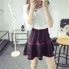 Plaid Knit Skirt 1596