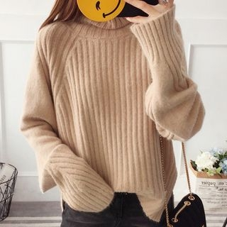 Ribbed Long-Sleeve Knit Top 1063329303