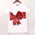 Bow Sequined T-Shirt 1596