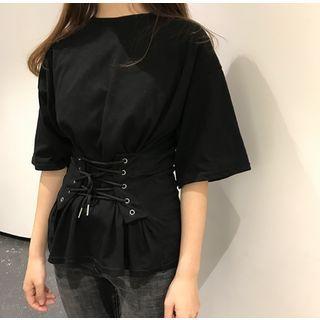 Lace Up Short-Sleeve T-shirt 1065549356