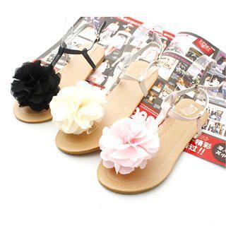 Buy KAWO Corsage T-Bar Sandals 1022786065
