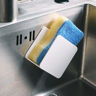 Image of Adhesive Kitchen Cleaning Sponge Holder White - One Size