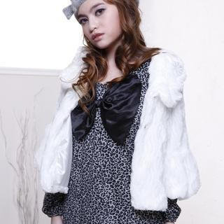 Buy Yammi Bow Front Leopard Printed Dress 1021636427