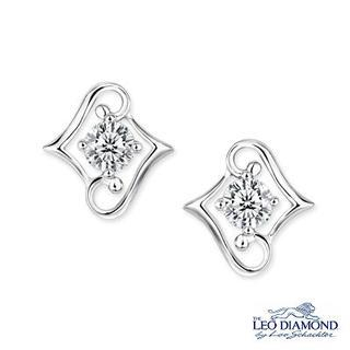 Beloved Collection - 18K White Gold Diamond Solitaire Double L-Shaped Earrings picture