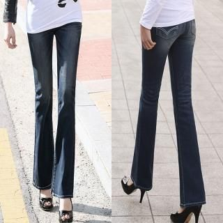 Picture of Blue Is Boot-cut Jeans 1022366850 (Womens Boot-Cut Pants, Blue Is Pants, South Korea Pants)