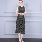 Striped Sleeveless Maxi Dress 1596