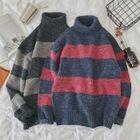 Turtleneck Color-Block Sweater 1596
