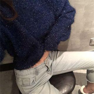 Sapphire | Glitter | Sweater | Blue | Size | One