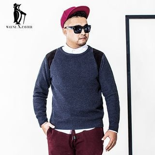 Elbow Patch Ribbed Sweater 1055701958