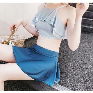 Set: Ruffle Bikini Top + Swim Skirt 1068139863