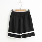 Contrast Trim Shorts 1596