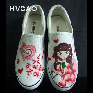 """Korean Love"""" Slip-Ons"""