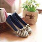 Bow-Accent Striped Espadrilles 1596