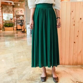 Band-Waist Long Skirt 1061888080