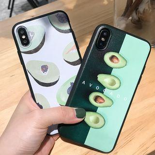 Image of Avocado-Print Phone Case - iPhone 6 / 6s / 6 Plus / 6s Plus / 7 / 8 / 7 Plus / 8 Plus / X / XS / XR / XS Max