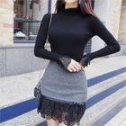 Lace-Trim Slim-Fit Knit Top 1596