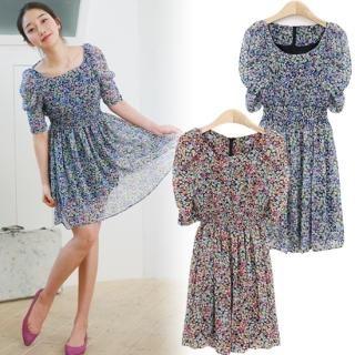 Buy MOUL STYLE Print Chiffon Dress 1022525575