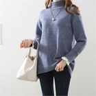 Mock-Neck Lace-Trim Sweater 1596