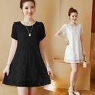 Short-Sleeve Lace Maternity Dress 1596