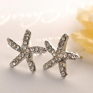 Starfish   Earring   Silver   Size   One