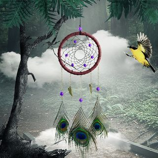 Feather-Drop Dream Catcher Wind Chime