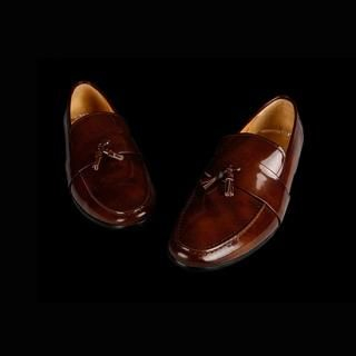 Buy STYLEHOMME Tassel Accent Patent Dress Shoes 1022161206