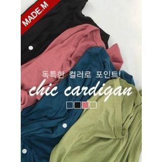 V-Neck Short-Sleeve Cardigan 1060744368