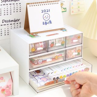Transparent Drawer Desk Organizer