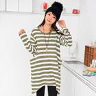 Striped Long Knit Top 1596