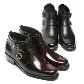Picture of SLOWBABA Buckled Ankle Boots 1021790274 (Boots, SLOWBABA Shoes, Korea Shoes, Mens Shoes, Mens Boots)