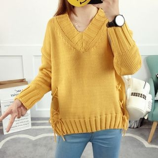 Lace Up Detail Sweater 1062037300