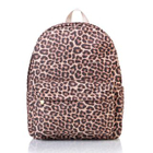 Leopard-Print Cotton Backpack 1596