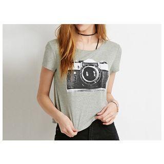 Camera Print T-Shirt 1045571876