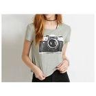 Camera Print T-Shirt 1596