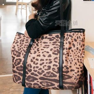 Leopard-Print Tote