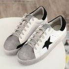 Star Applique Lace Up Sneakers Black - 42 от YesStyle.com INT