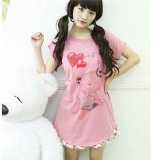 Buy Dodostyle Bear Print T-Shirt 1022877587