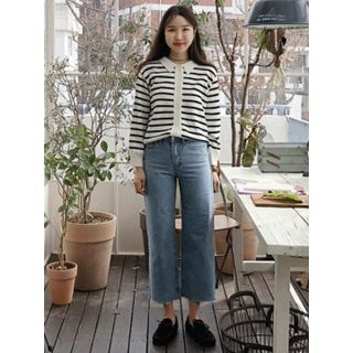Washed Wide-Leg Jeans 1065438795