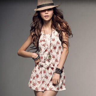 Buy PUFFY Floral Print Ruffle Sundress 1023030322