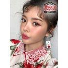 Lace-Collar Rosette Mini Flare Dress 1596