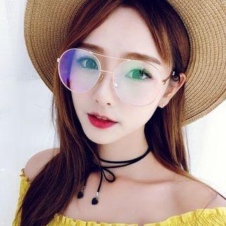Oversize Round Glasses 1062189599