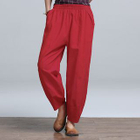 Linen Cotton Wide-leg Pants 1596