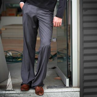 Picture of Purplow Basic Formal Pants in Gray 1004981396 (Purplow, Mens Pants, Korea)