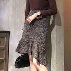 Ruffle Hem Tweed Skirt 1596