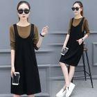 Set: Long-Sleeve T-Shirt + Pinafore Dress 1596