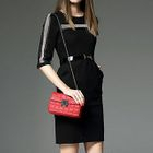Elbow-Sleeve Paneled Sheath Dress 1596