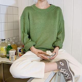 icecream12 Colored Rib-Knit Sweater