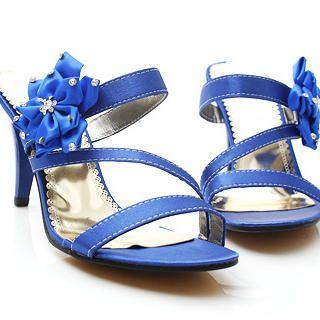 "Buy KAWO Rhinestone ""Corsage"" High-Heel Sandals 1022759318"