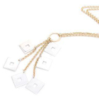18K White  Yellow Gold Dangling Squares Necklace от YesStyle.com INT