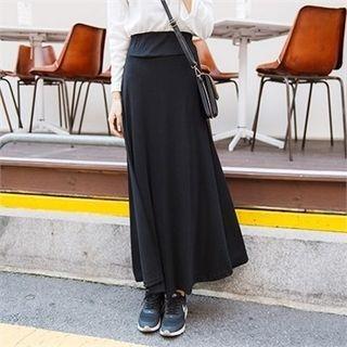 Band-Waist Long Skirt 1053112223
